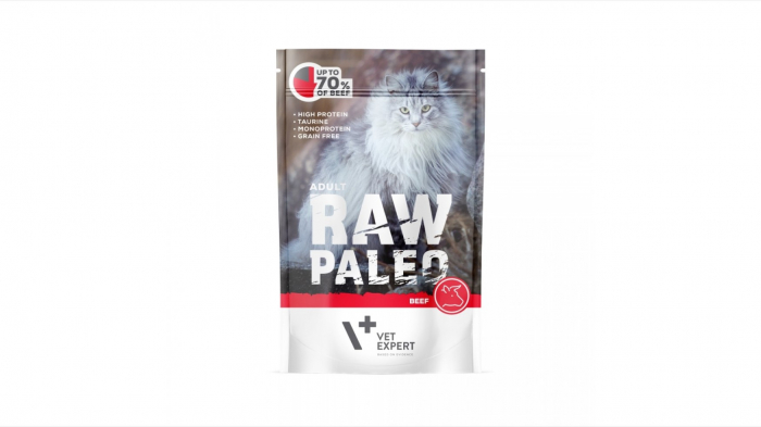 Hrana umeda, RAW PALEO CAT, adult, carne de vita, 100 g [0]