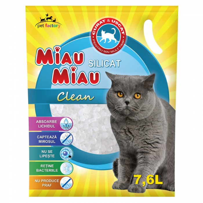 Silicat Miau Miau Clean 7,6 L 0