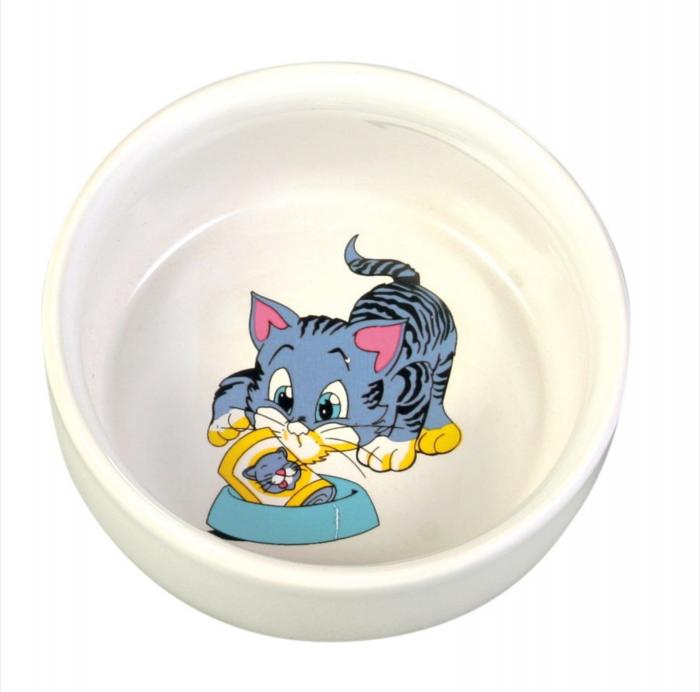 Castron Pisica Ceramica 0.3 l/11 cm [0]