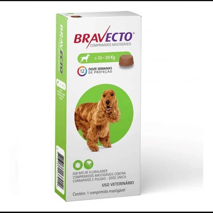 Bravecto 10-20 kg, 1 tableta masticabila x 500 mg 0