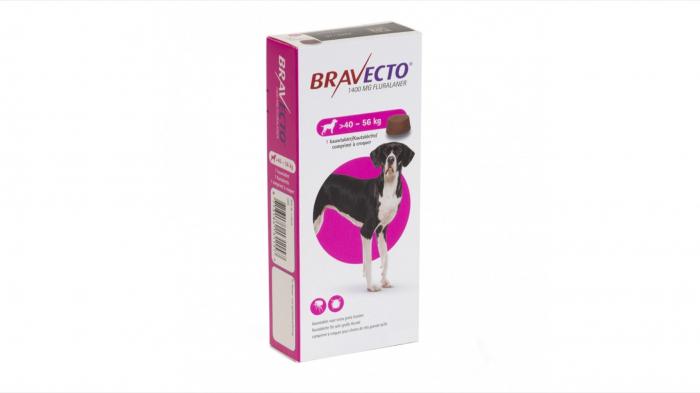 Bravecto 40-56 kg, 1 tableta masticabila x 1400 mg [0]