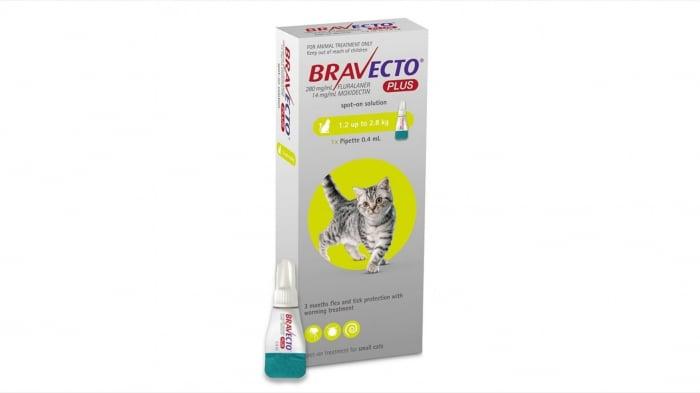 Bravecto Plus Spot On Cat 112.5 mg (1.2 - 2.8 kg), 1 pipeta 0