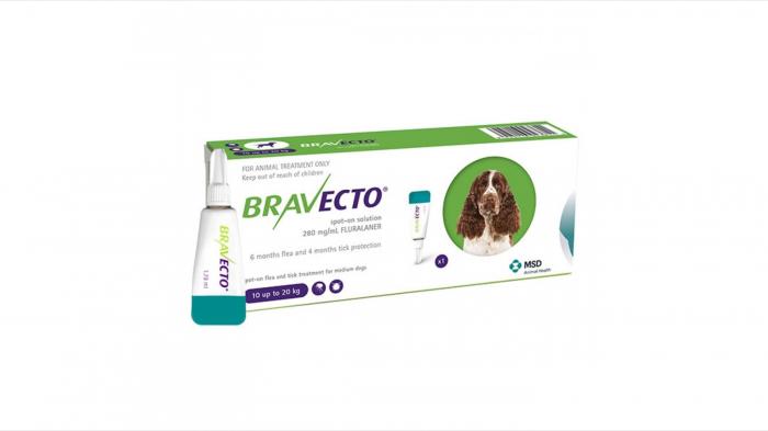 Bravecto spot on caine (10-20 kg) 1 pipeta 0