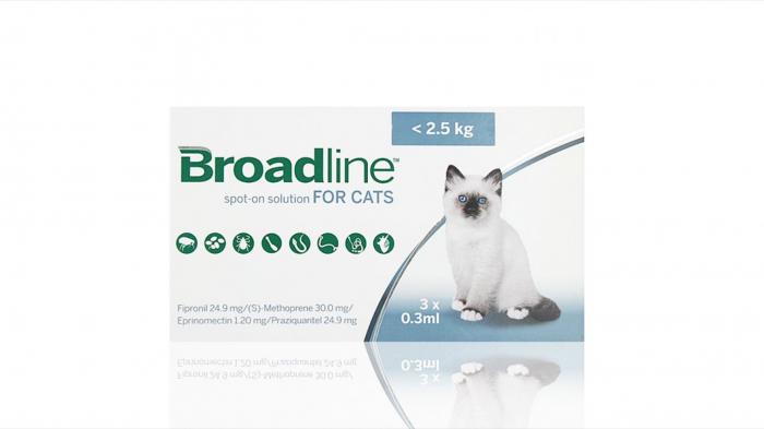 Broadline Cat S, < 2.5 kg, 3 pipete 0