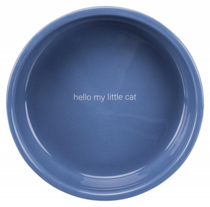 Bol ceramic 0.3 l/ 15 cm albastru/alb [1]