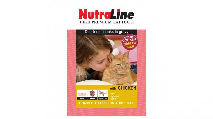 Nutraline Classic Pisica Pui, 100 g 0