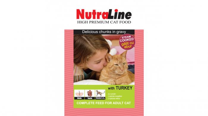 Nutraline Classic Pisica Curcan, 100 g 0
