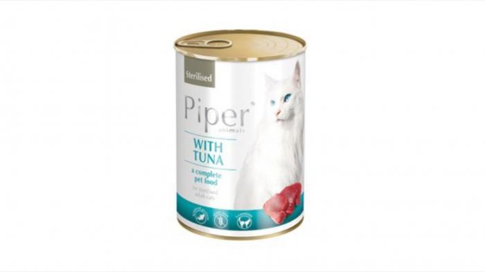 Conserva hrana umeda Piper Cat Sterilised, Ton 400 g 0