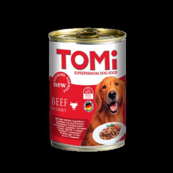Conserva hrana umeda Tomi caine cu vita, 400 g 0