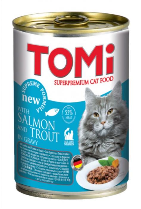 Conserva hrana umeda Tomi pisica cu Peste, 400 g 0