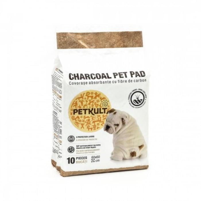 Covorase absorbante pentru caini Petkult Charcoal 60X60 cm 0