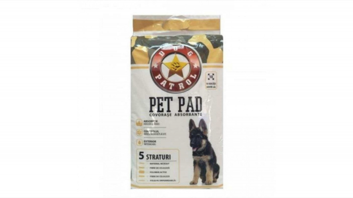 Dog Patrol Pet Pad Benzi Adezive 60 x 90 cm, 10 buc [0]
