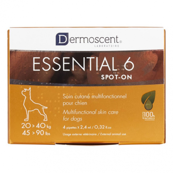 Dermoscent Essential 6 Spot-on Caine 20-40kg - 4 pipete 0