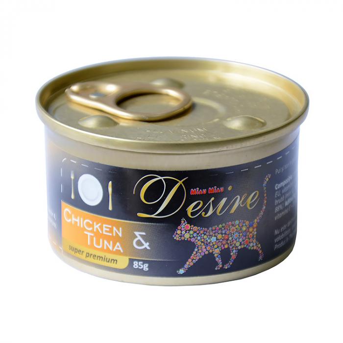 Conserva Hrana Umeda DESIRE Pui File si Ton in Gelatina 85g [0]