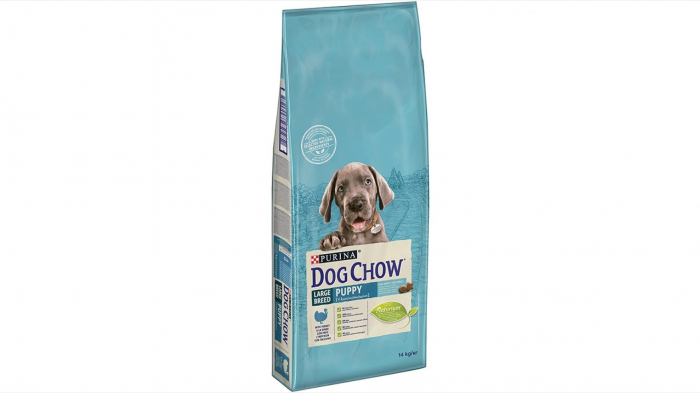 Dog Chow Puppy Large Breed cu Curcan 14 kg 0