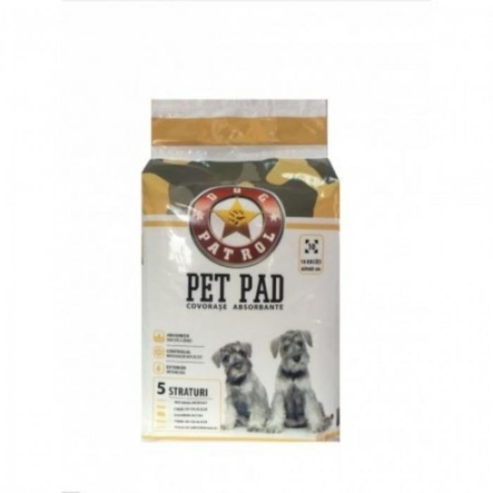 Dog Patrol Pet Pad Benzi Adezive 60 x 60 cm, 10 buc [0]