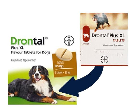 Drontal Plus XL,Cutie 1 tableta [0]