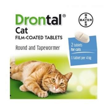Drontal Cat, Cutie 2 tablete 0