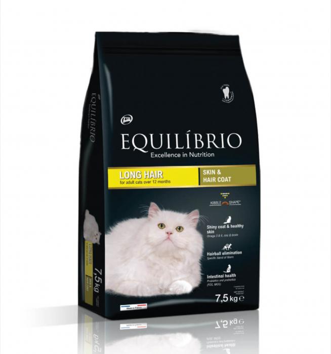 Hrana uscata pentru pisici Equilibrio Long Hair, 7.5kg 0