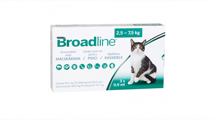 Broadline Cat L, 2.5-7.5 kg, 3 pipete 0