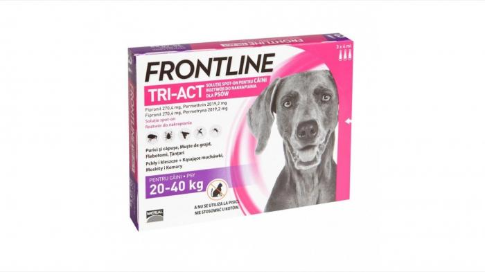 Frontline Tri-act L spot on pentru caini 20-40 kg - 3 pipete antiparazitare 0