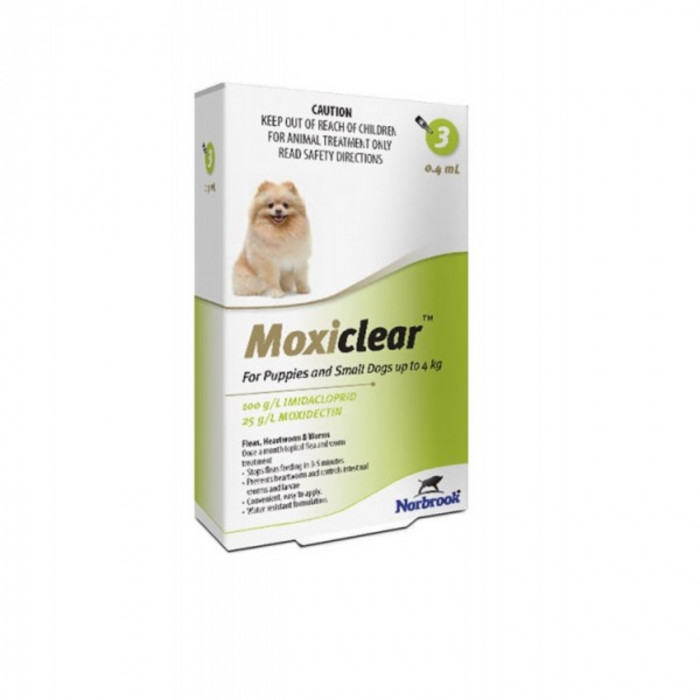 Moxiclear Caine Spot-On S 0.4 ml 0-4 kg 3 pipete [0]