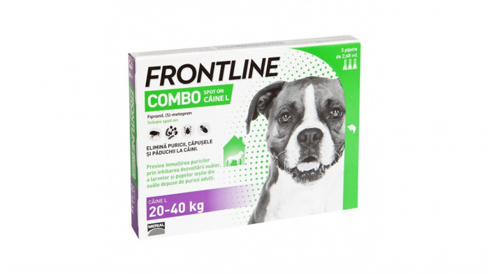 Frontline Combo L (20-40 kg) - 3 Pipete Antiparazitare 0