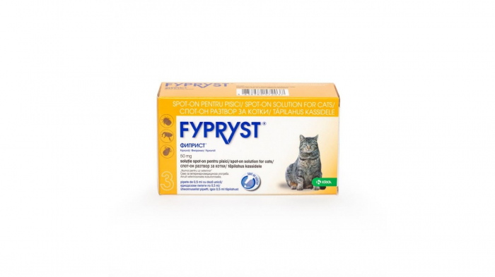 Fypryst Cat Spot On 50 mg, 3 pipete 0