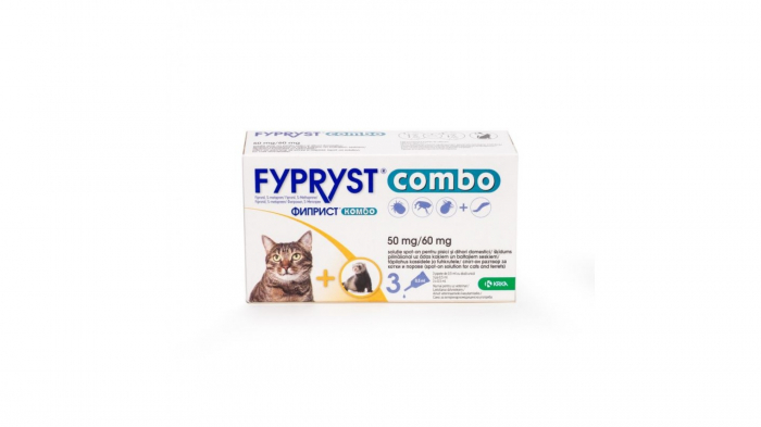 Fypryst Combo Cat 50 mg, 3 pipete 0