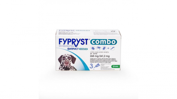 Fypryst Combo Dog L 268 mg (20 - 40 kg), 3 pipete 0