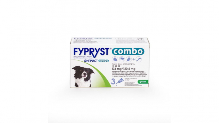 Fypryst Combo Dog M 134 mg (10 - 20 kg), 3 pipete 0