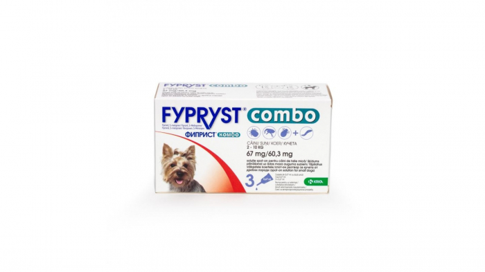 Fypryst Combo Dog S 67 mg (2 - 10 kg), 3 pipete 0