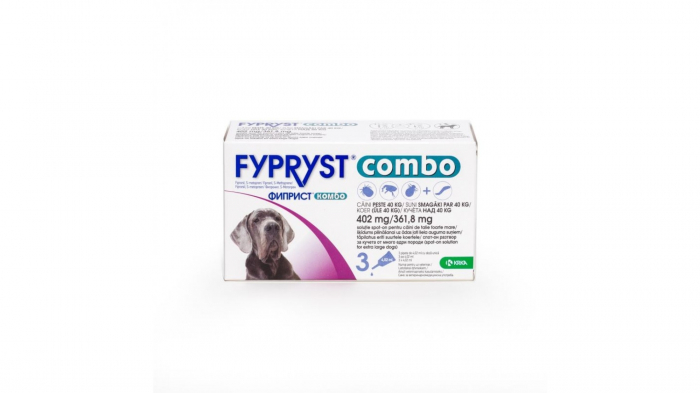 Fypryst Combo Dog XL 402 mg (40 - 60 kg), 3 pipete 0