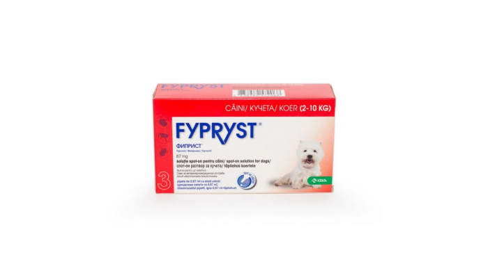 Fypryst Dog S 67mg (2 - 10 kg), 3 pipete 0
