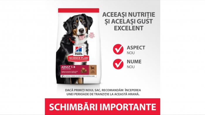 Hill's SP Adult Medium Breed hrana pentru caini cu miel si orez, 14 kg [5]