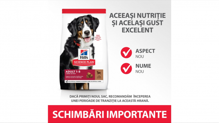 Hill's SP Adult Medium Breed hrana pentru caini cu miel si orez, 2.5 kg [4]