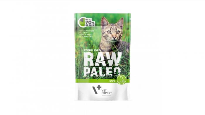 Hrana umeda pentru pisici sterilizate, RAW PALEO CAT, carne de vanat, 100 g [0]