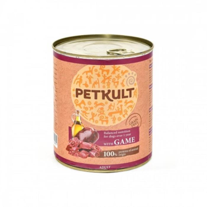 Hrana umeda Petkult Adult cu vanat 800 g 0