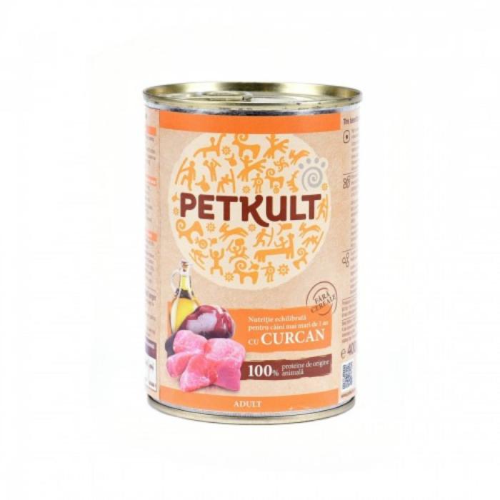 Hrana umeda Petkult Adult cu curcan 400 g 0
