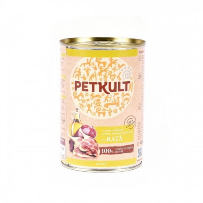 Hrana umeda Petkult Adult cu rata 400 g 0