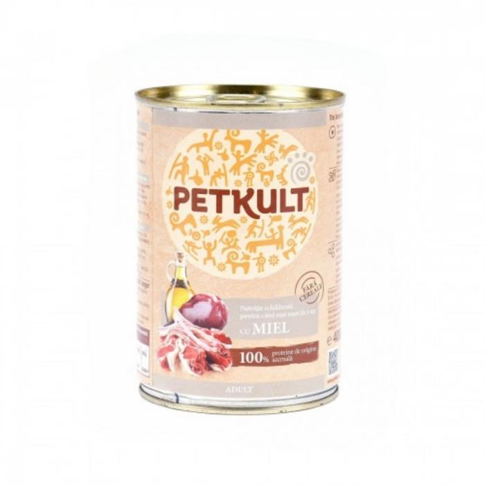 Hrana umeda Petkult Adult cu miel 400 g 0
