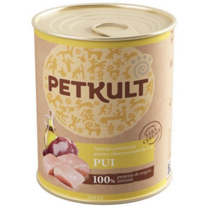 Hrana umeda Petkult Adult cu pui 800 g [0]