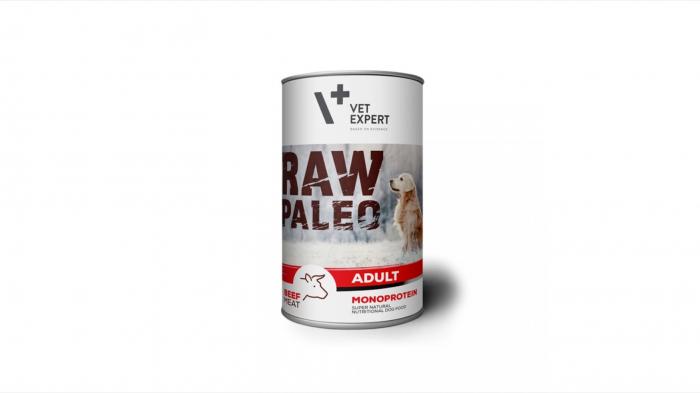 Hrana umeda, RAW PALEO, adult, carne de Vita, 400 g 0