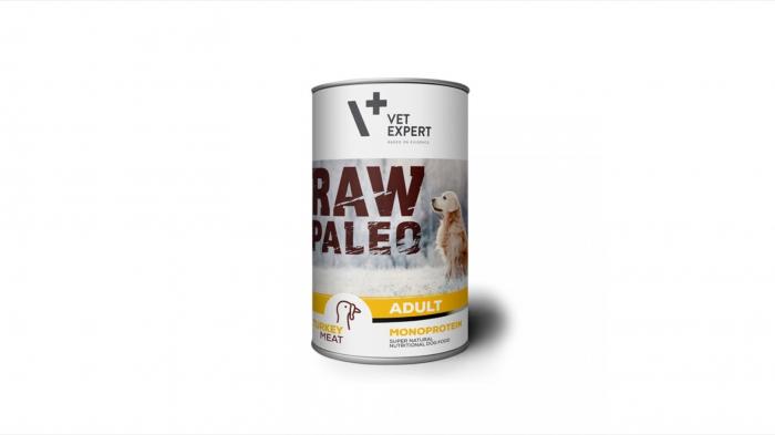 Hrana umeda, RAW PALEO, adult, carne de Curcan, 400 g [0]