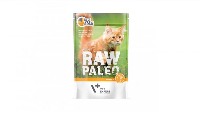 Hrana umeda, RAW PALEO CAT, adult, carne de curcan, 100 g 0