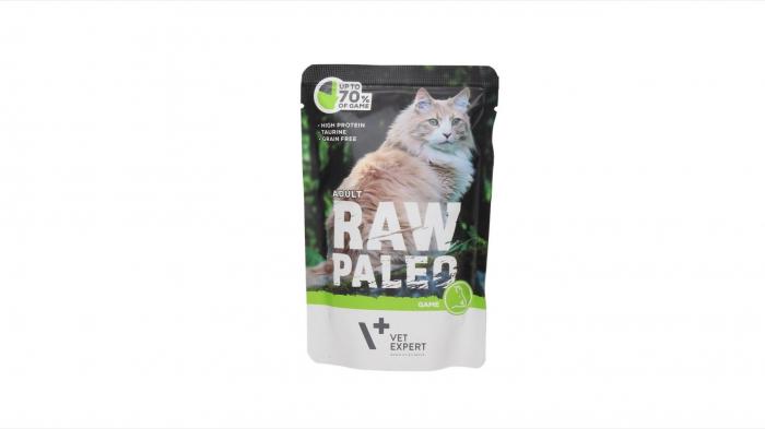 Hrana umeda, RAW PALEO CAT, adult, carne de vanat, 100 g 0