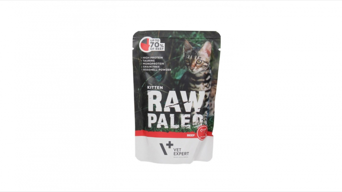 Hrana umeda, RAW PALEO, kitten, carne de Vita, 100 g [0]