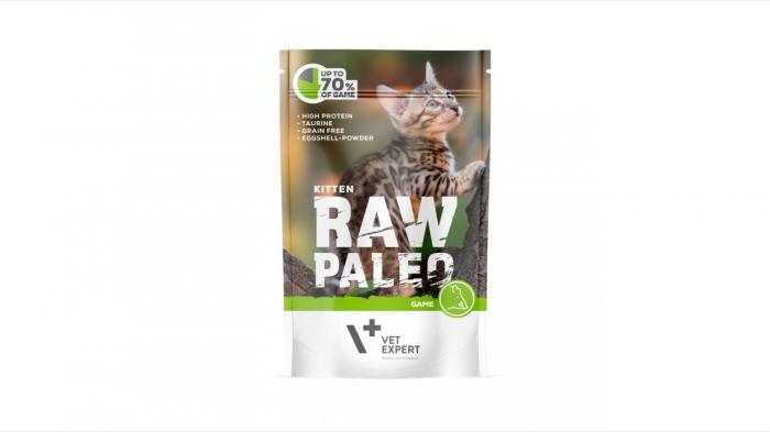 Hrana umeda, RAW PALEO, kitten, carne de Vanat, 100 g 0