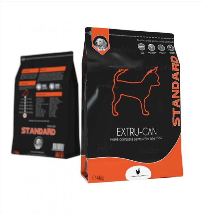 Hrana Uscata Extru-Can Standard Talie Mica, 4 kg 0