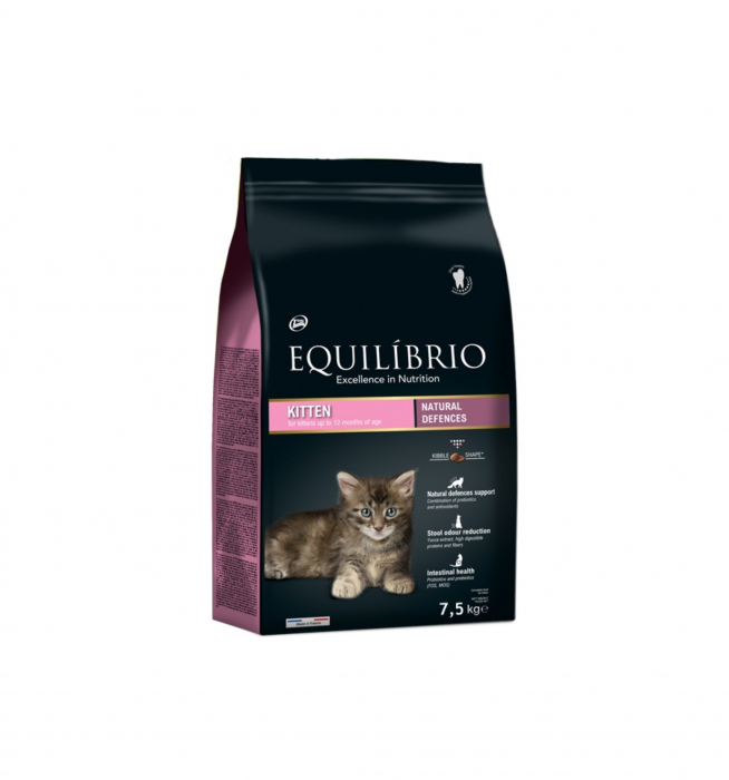 Hrana uscata pentru pisici Equilibrio Kitten 7.5 kg [0]